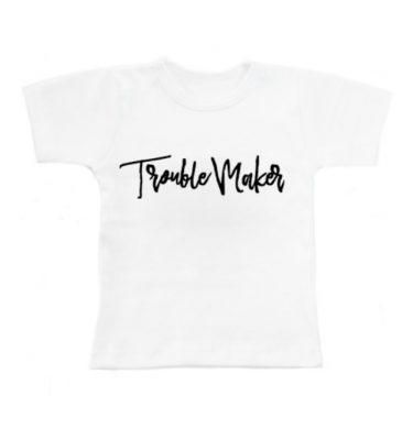 witte shirt met tekst Trouble MAker