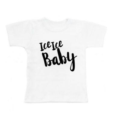 witte baby t-shirt met opdruk Ice ice baby