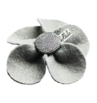 Kollale Grey Feltflower Button