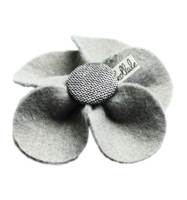 Kollale Grey Feltflower Button