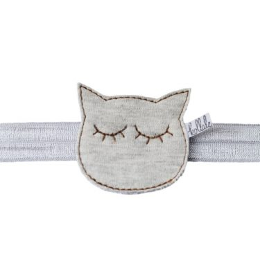 Winter Dream Cat Grey Haarband