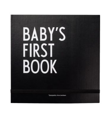 Design Letters Baby's First Book - Black