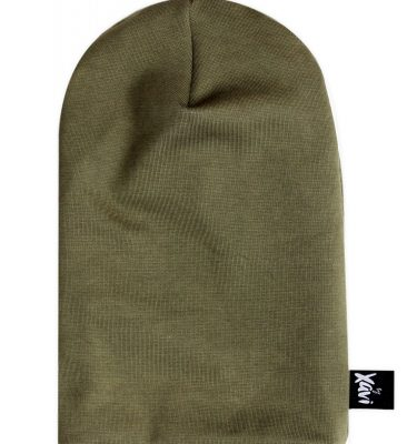 laaghangende beanie hunter green