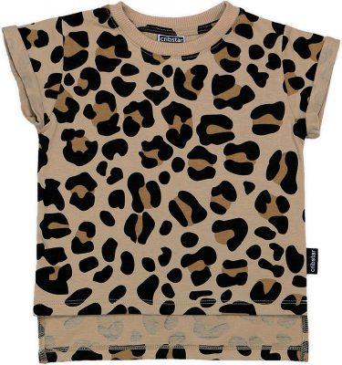 Cribstar – Beige Leopard t-shirt