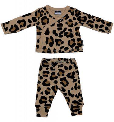Cribstar – Beige Leopard Kimono Set